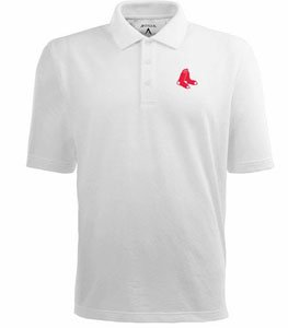 Boston Red Sox Classic Pique Xtra Lite Polo Shirt (White) - XXX-Large by Antigua