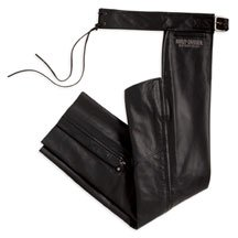 Buy Harley Davidson Mens Lightweight Chaps. Lightweight leather with poly lining to the knee and power stretch at inner thigh, and much more. 98119-08VM