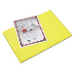 - Riverside Construction Paper, 76 lbs., 12 x 18, Yellow, 50 Sheets/Pack - 1