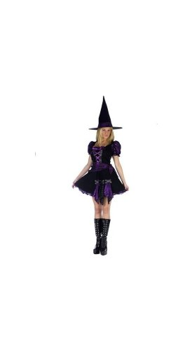 Purple Punk Witch Costume - Adult Costume