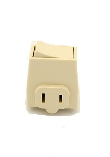 Leviton 1469-I 13 Amp, 125 Volt, Plug-In Switch Tap, Ivory