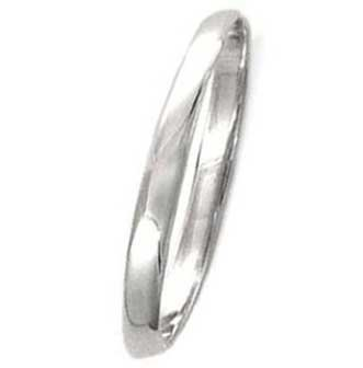 High Polished Sterling Silver 2mm Wedding Band