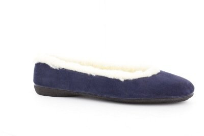 Image of Andres Machado - Comfortable Ballerina in Navy blue Skin with wool lining. (B008D1OR0M)