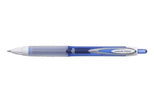Uni-ball Signo UMN-207F - Bolígrafos de punta redonda (12 unidades, tinta de gel), color azul