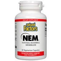 Natural Factors Nem - Natural Eggshell Membrane, 30 Veg Caps 500 Mg