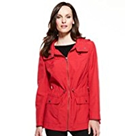M&S Collection Hooded Funnel Neck Zip Through Anorak