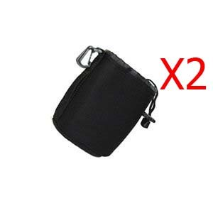 Cosmos 2 PCS Extra small Black DSLR camera Drawstring Soft Neoprene Lens Pouch Bag Cover for Sony Canon Nikon Pentax Olympus Panasonic with Cosmos Fastening Strap
