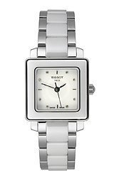 Tissot T-Trend Cera Diamonds White Dial Women's watch #T064.310.22.016.00
