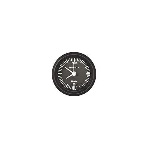Faria 12825 Euro Black Quartz Clock