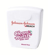 5552121 Pt# 9667 Reach Clean Burst Floss 5Yd Berry Mint 144/Bx Made By J&J (Sample Size Units) front-136191