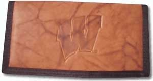 Wisconsin Badgers Leather/Nylon Checkbook Cover