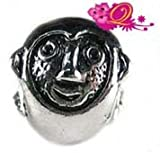 Quiges Beads Charms Silver Plated Monkey Charm Bead for Pandora/Troll/Chamilia/European Beads