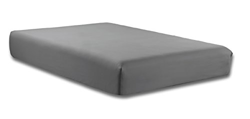 Gold Crown 1500 Series Premium Solid Fitted Sheet KING size, GREY Brushed Microfiber Hight thread count Super Soft-SALE -Wrinkle, Fade, Stain Resistant, Deep Pockets (Fitted Bed Sheet King compare prices)
