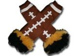 Iowa Haweyes - Tutu Chiffon Ruffle Leg Warmers - American Football (Touch Down) front-770081