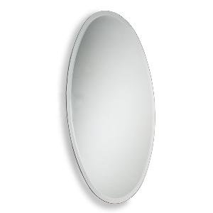 Allied Brass Frameless Oval Wall Mounted Mirror Polished Chrome