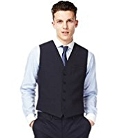 Limited Collection Slim Fit 5 Button Plain Waistcoat