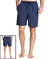 2 Pack Pure Cotton Woven Assorted Pyjama Shorts