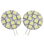 G4 5050 12-LED 1.8W White Light Bulb-DC 12V(Pair) Sale