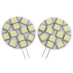 G4 5050 12-Led 1.8W White Light Bulb-Dc 12V(Pair)