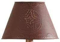 Red Star Punched Tin 6 Quot Lamp Shade Rustic Touch Rustic