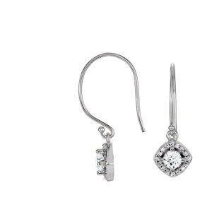 Genuine IceCarats Designer Jewelry Gift 14K White Gold 3/4 Ctw Diamond Earrings. 3/4 Ctw Diamond Earrings In 14K White Gold