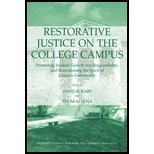 img - for Restorative Justice on the College Campus: Promoting Student Growth and Responsibility, and Reawakening the Spirit of Campus Community book / textbook / text book