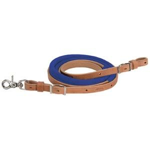 Weaver Leather Suede Covered Barrel Rein Blue