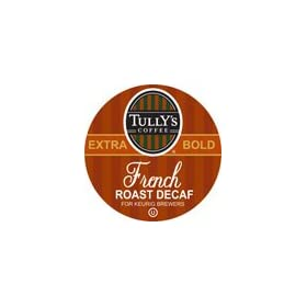 Tully's Coffee French Roast DECAF 4 Boxes of 24 K-Cups: Office Products