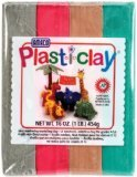 AMACO Plasti-Clay, 1-Pound, Red/Grey/Green/Brown - 1