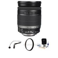 Canon EF-S 18-200mm f/3.5-5.6 IS Auto Focus Lens Kit, with Pro Optic 72mm Multi Coated UV Filter. Lens Cap Leash, Professional Lens Cleaning Kit