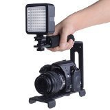 Neewer Aluminum Video Action Stabilizing Handle Grip Bracket with Cold Shoe and 1/4