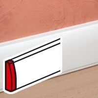 Lot de 10 Embouts - pour plinthe Céliane finition platre 82,5x12,5 mm Legrand