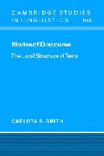 Modes Of Discourse: The Local Structure Of Texts (Cambridge Studies In Linguistics)