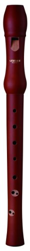 Smart Soprano Recorder WHO-4118B Maple Wood Brown Color 2-Piece Baroque Fingering