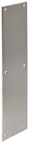 Rockwood 73C.32D Stainless Steel Standard Push Plate, Four Beveled Edges, 16