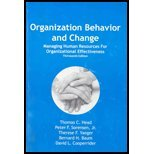 img - for Organization Behavior and Change: Managing Human Resources for Organizational Effectiveness book / textbook / text book