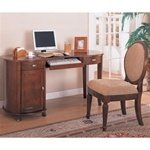 Buy Low Price Comfortable 2 Piece Home Office Set with Kidney Shaped Computer Desk in Cherry Finish by Coaster – 800021S (B002V1WBGW)