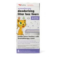 Petkin Litter Box Liners Lavender, Pack of 6