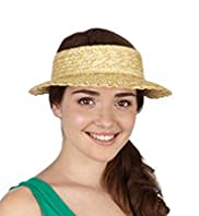 Peak Front Sun Visor Straw Hat