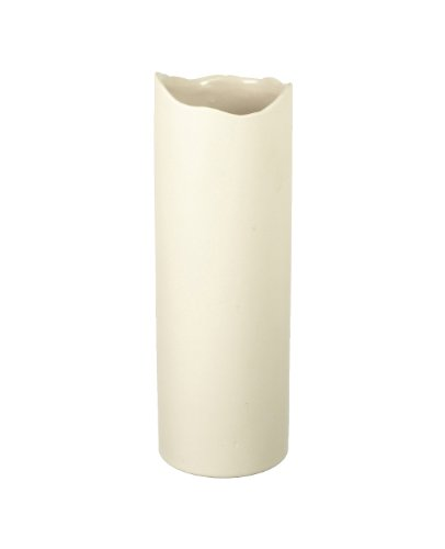 Large Organic Cream Ceramic Cylinder Vase Planter