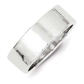 Genuine IceCarats Designer Jewelry Gift Sterling Silver 7Mm Flat Band Size 12.00