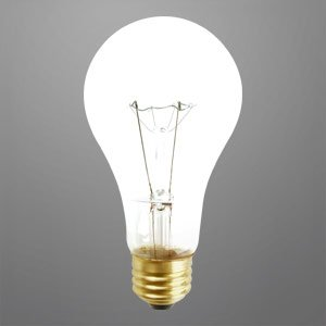 150 Watt A21 Clear Long Life Incandescent Light Bulb 10 000 Hours