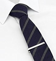Limited Collection Wool Blend Striped Tie with Tie Clip