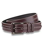 North Coast Leather Contrast Stitch Belt