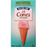 Goldbaum's Gluten Free Ice Cream Cones, 12 Cones (1.3-ounces), Kosher