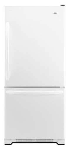 Amana 18.5 Cubic Foot Bottom-Freezer Refrigerator, ABB1924WEW, White