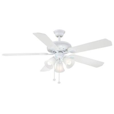 Hampton Bay Glendale 52 In. White Ceiling Fan