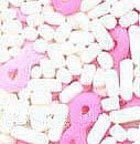 Confetti Pink Ribbon and Sprinkles 2.6 oz. CONPRM