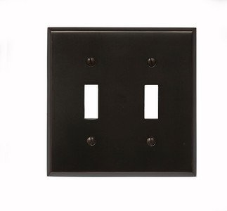 Classic Accents Oil Rubbed Bronze 2 Gang Toggle SwitchplateB0006FJ76W