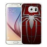 Spiderman Symbol White Samsung Galaxy S6 Screen Cover Case Genuine Design High Quality